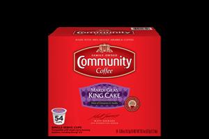 Mardi Gras King Cake Coffee Pods 54 Count