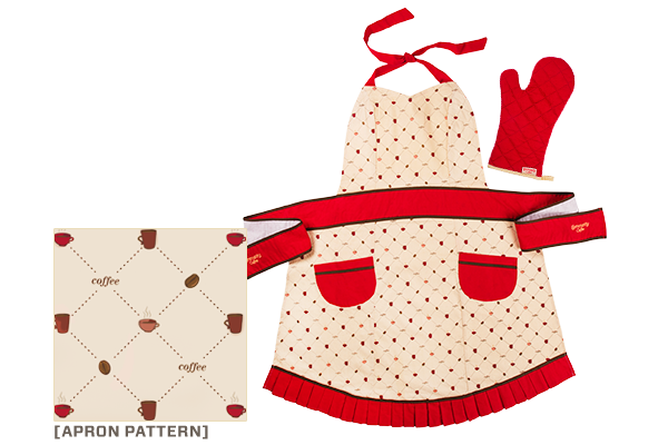 Apron and Oven Mitt Set