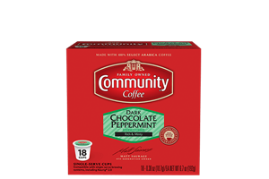 Dark Chocolate Peppermint Coffee Pods 18 Count