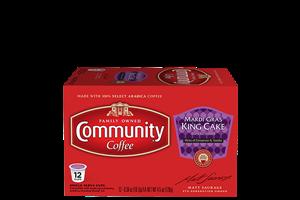 Mardi Gras King Cake Coffee Pods 12 Count