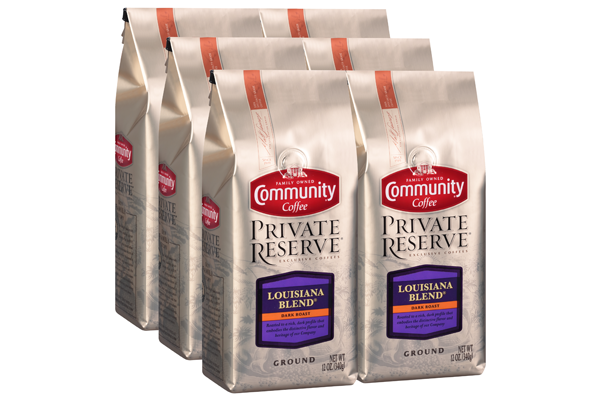 12 oz. Ground Private Reserve Louisiana Blend Coffee (Pack of 6)