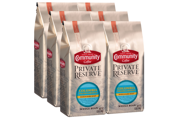 12 oz. Whole Bean Private Reserve Colombia Toledo Labateca Coffee (Pack of 6)