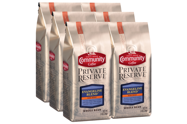 12 oz. Whole Bean Private Reserve Evangeline Blend Coffee (Pack of 6)
