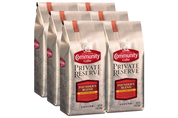 12 oz Ground Private Reserve Founder's Blend Coffee (Pack of 6)