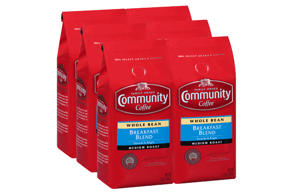 12 oz. Whole Bean Breakfast Blend Coffee (Pack of 6)
