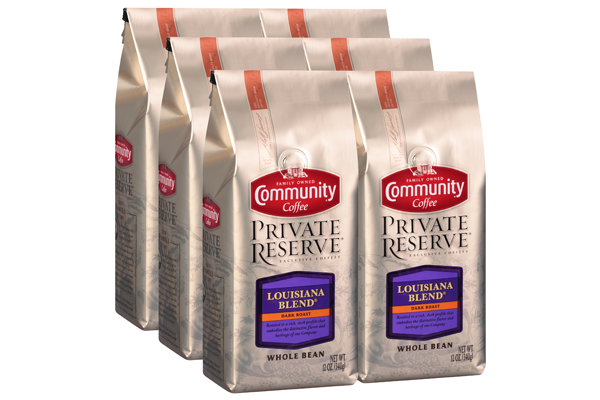 12 oz. Whole Bean Private Reserve Louisiana Blend Coffee (Pack of 6)