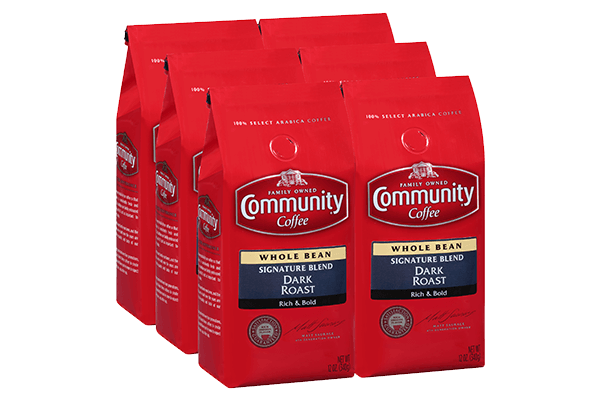 12 oz. Whole Bean Signature Blend Dark Roast Coffee(Pack of 6)