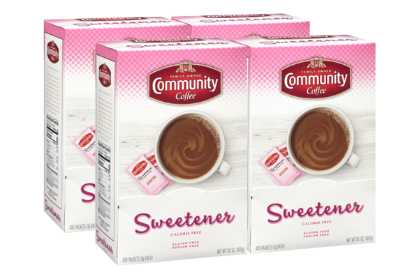 Community® Pink Sweetener Individual Packs (400 Packets) (Pack of 4 boxes)