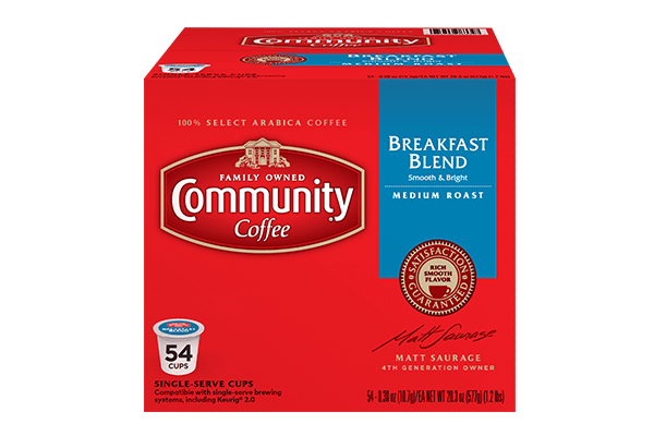 Breakfast Blend Coffee Pods 54 Count