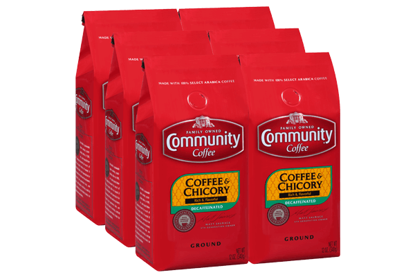 12 oz. Ground Decaf Coffee and Chicory (Pack of 6)