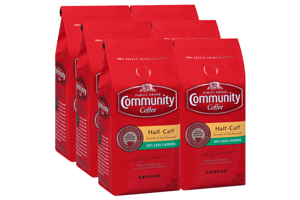 12 oz. Ground Half Caff Coffee (Pack of 6)