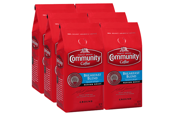 12 oz. Ground Breakfast Blend Coffee (Pack of 6)