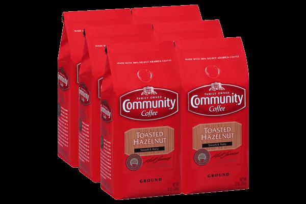 12 oz. Ground Toasted Hazelnut Coffee (Pack of 6)