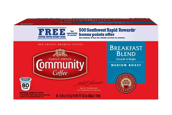 Breakfast Blend Coffee Pods 80 count