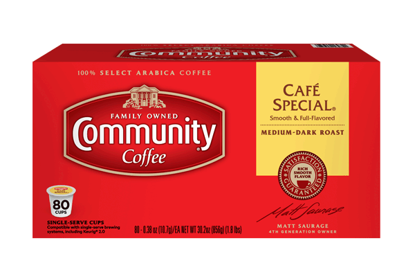 Cafe Special Coffee Pods 80 Count