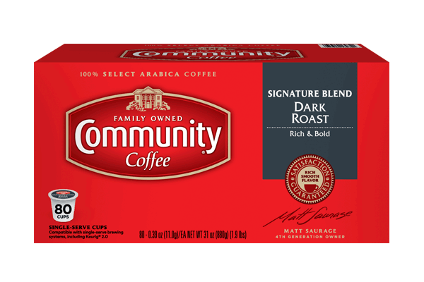 Signature Blend Dark Roast Coffee Pods 80 count