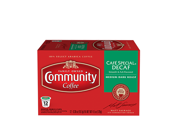 Cafe Special Decaf Coffee Pods 12 count