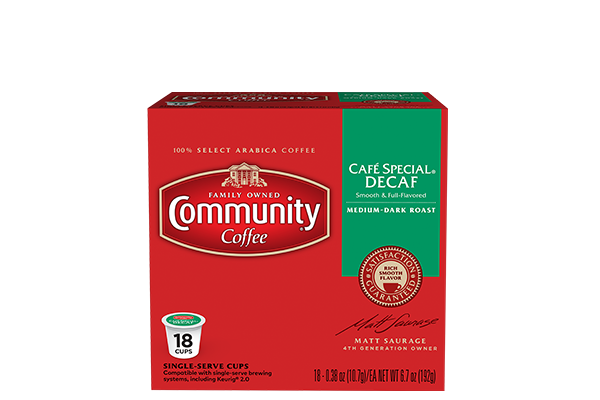 Cafe Special Decaf Coffee Pods 18 count
