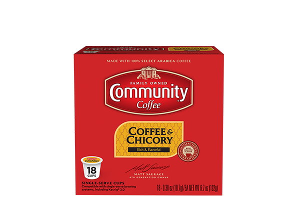 Coffee and Chicory Coffee Pods 18 count