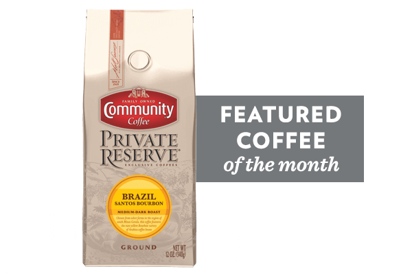 Coffee of the Month (Brazil Santos Bourbon Coffee)