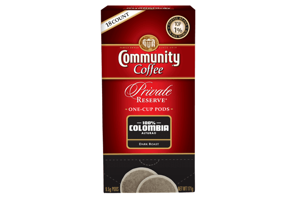 One Cup Coffee Pods 18 count Colombia Dark