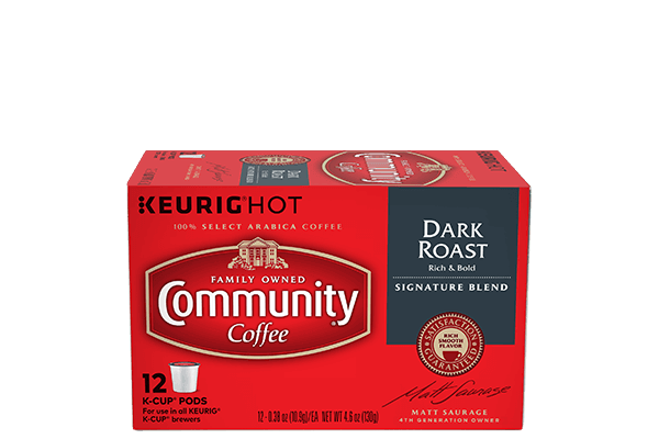 single serve dark roast k cup pods 12 count community coffee. Black Bedroom Furniture Sets. Home Design Ideas