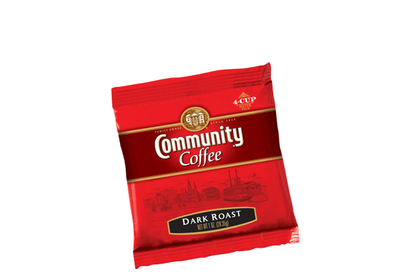 Dark Roast 4 Cup Filter Pack Coffee
