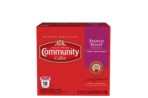 French Roast Coffee Pods 18 count