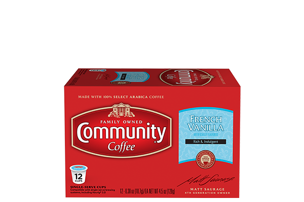 French Vanilla Coffee Pods 12 count