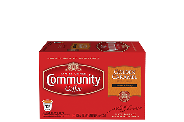 Golden Caramel Coffee Pods 12 count
