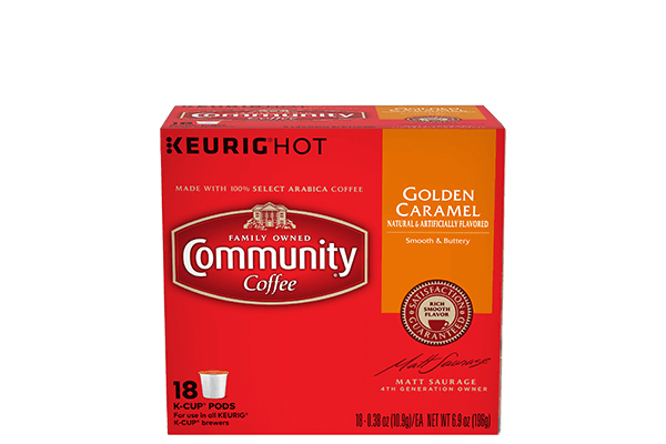 Golden Caramel Coffee Pods 18 count