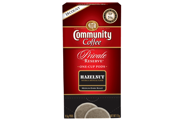 One Cup Coffee Pods 18 Count Hazelnut