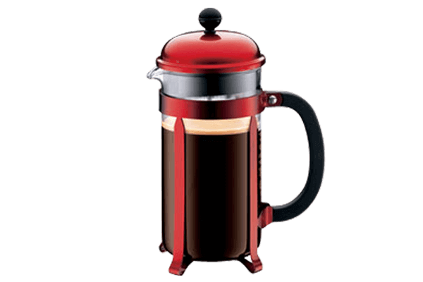 Red Bodum 8 Cup French Press