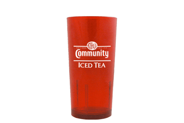 Red Iced Tea Glass
