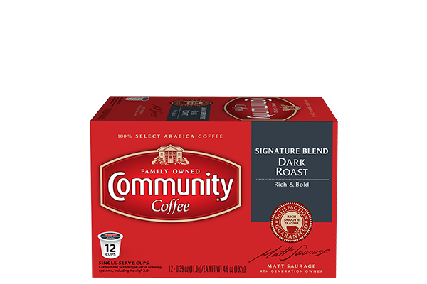 Signature Blend Dark Roast Coffee Pods 12 count
