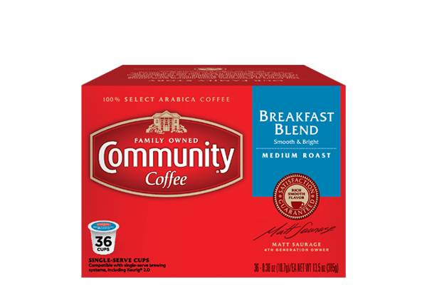 Breakfast Blend Coffee Pods 36 Count