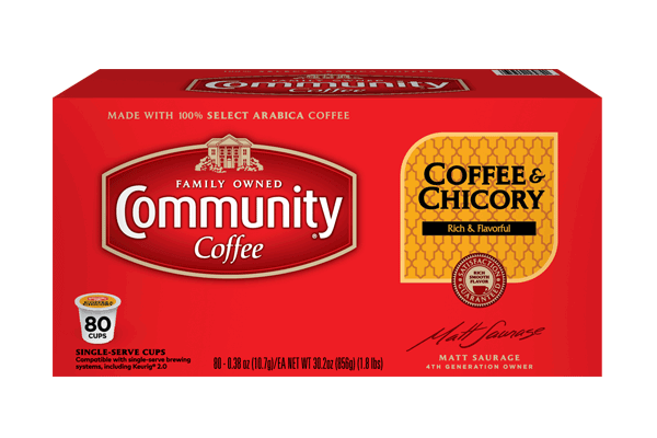 Coffee and Chicory Coffee Pods 80 count