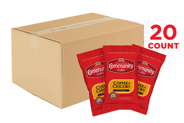 Coffee and Chicory Ground Coffee Packets 3.0 oz. 20 count