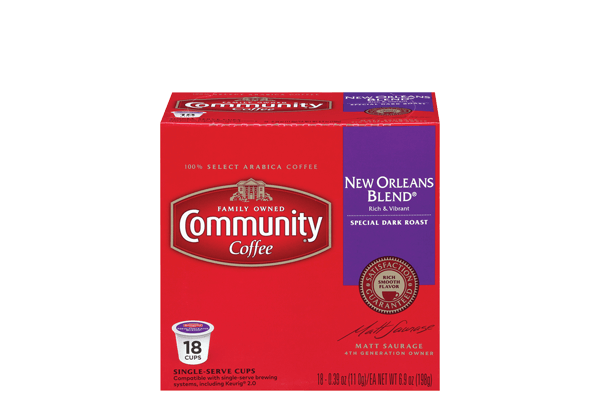 New Orleans Blend Coffee Pods 18 Count Compatible With