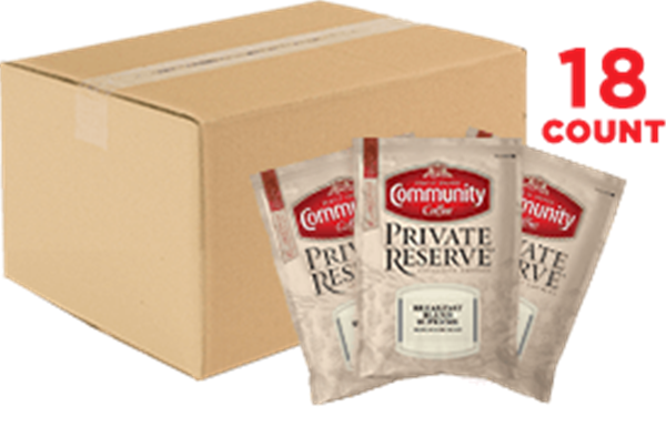 Private Reserve Breakfast Blend Supreme Ground Coffee Packets 3.25 oz. 18 Count