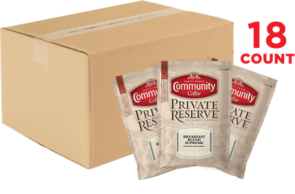 Private Reserve Breakfast Blend Supreme Coffee Packets 3.25 oz. 18 Count