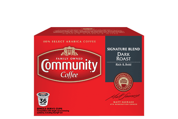 Signature Blend Dark Roast Coffee Pods 36 Count