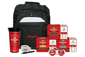 Logo Back Pack Single Serve Set
