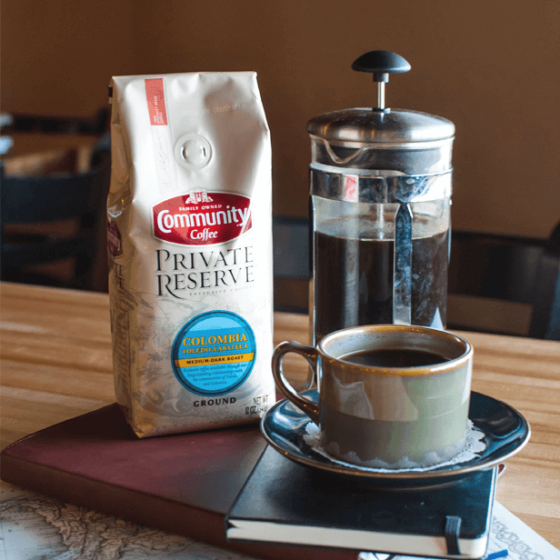 Shop our private reserve coffee products from Community Coffee.